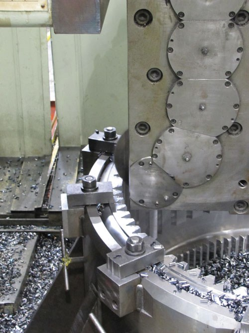 Milling heads for roughing internal gear profiles