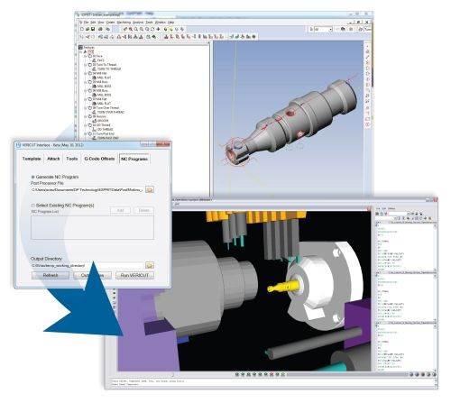 CGTech and DP Technology Esprit-to-Vericut interface