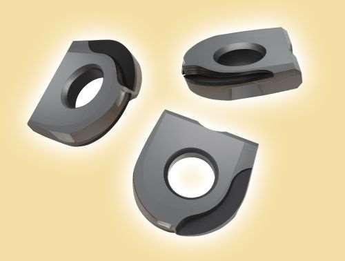 Dapra precision-ground ballnose inserts with PCD tips