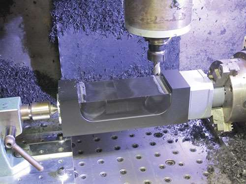 high speed machining on a four-axis machining center