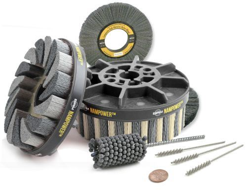 Brush Research Manufacturing Flex-Hone Tools, Nampower abrasives, and miniature nylon brushes