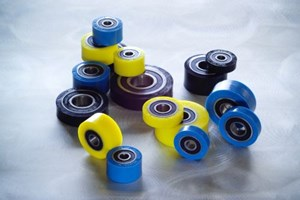 Fixtureworks urethane-covered bearing rollers