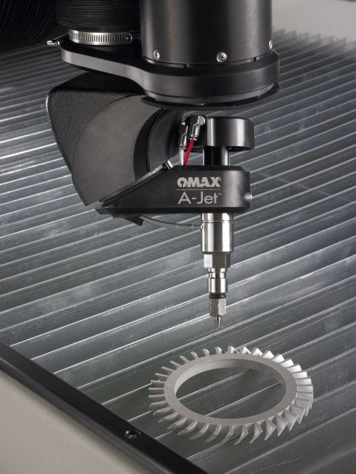 Omax A-Jet cutting head accessory