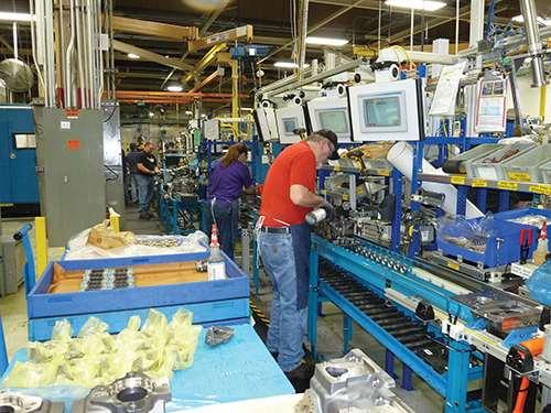 final assembly at Danfoss