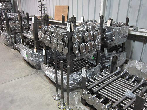 A stack of Moser's axle cores