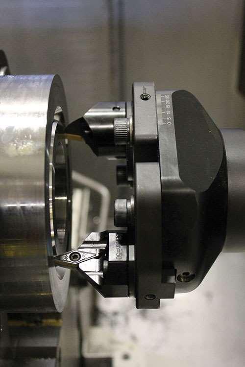 """Sandvik Coromant's """"SpiroGrooving"""" toolholder"""