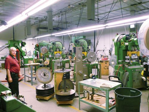 stamping component production