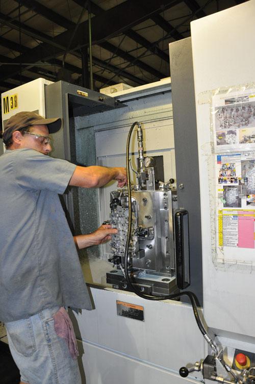machining transmission valve body