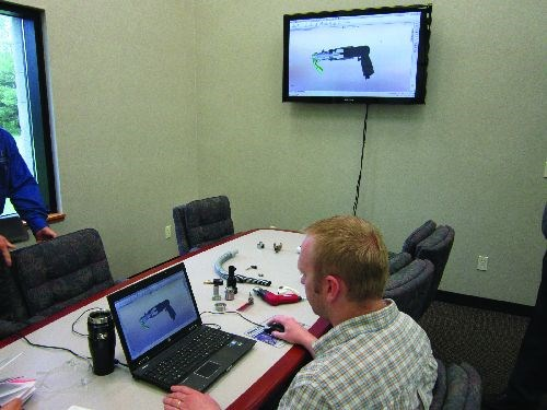 CAD files displayed