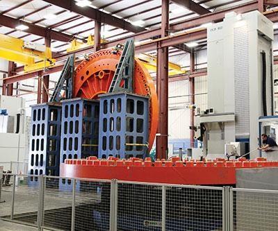 Magna Machine's German-built Union PCR 160 horizontal boring mill