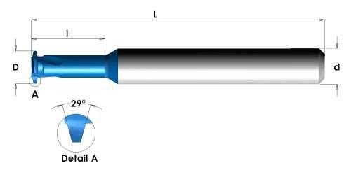 Carmex Acme internal threading tools