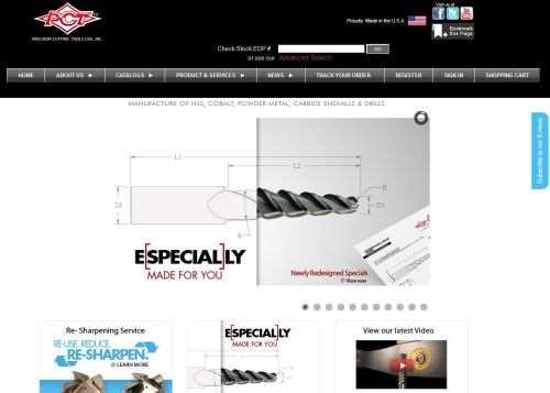 Precision Cutting Tools USA website