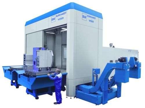 Burkhardt+Weber MCR slide-guided machining center