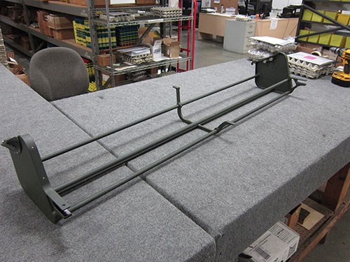 green helicopter step mount assembly/raft deployment system