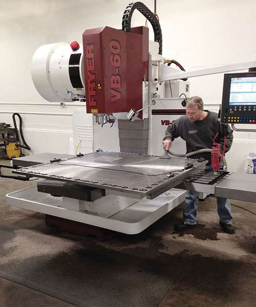 Walter Titex drills and a Fryer VB-60 machining center
