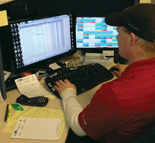 user at computer