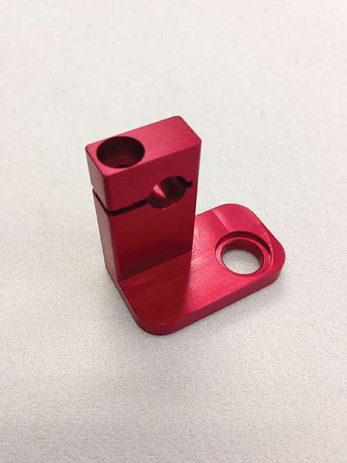 6061 red anodized aluminum sensor holder