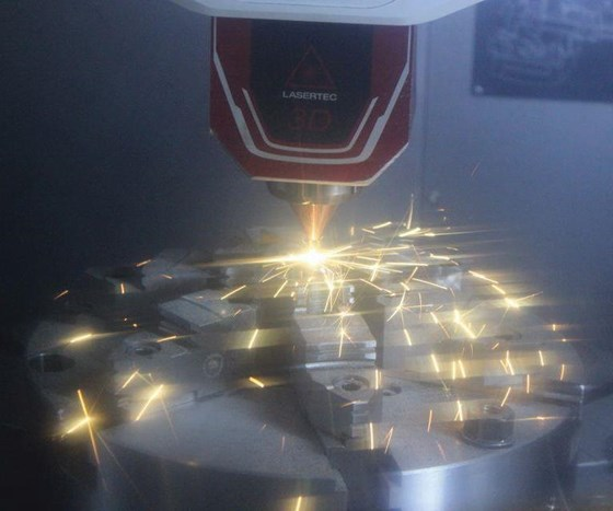 additive process in Lasertec 3D 65