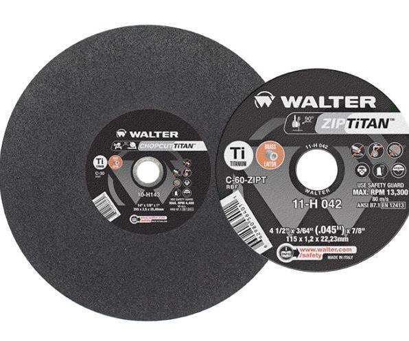 Walter Surface Technologies Zip Titan and Chopcut Titan