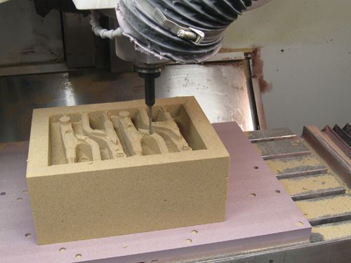 Milling foundry mold