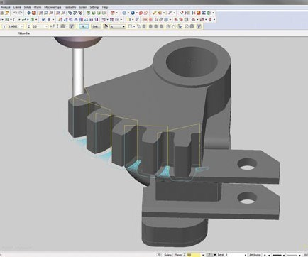 Mastercam for programming CNC mills