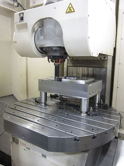 hydraulically locked axes