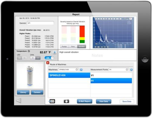 GTI Spindle VibePro and iVibraMeter applications