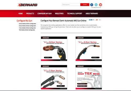 Bernard MIG gun configurator