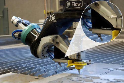 Flow International DynaBeam laser sensing system for waterjets