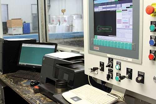 operator station at Gulf Machine Shop