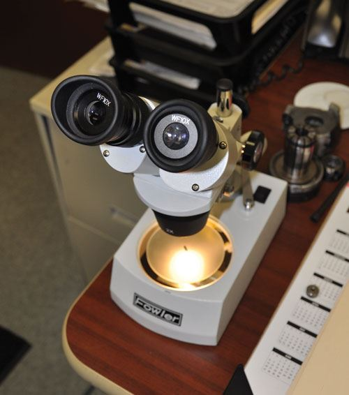 microscope for small machined parts