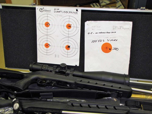 Bull's-eyes with Ruger .22 magnum rifles