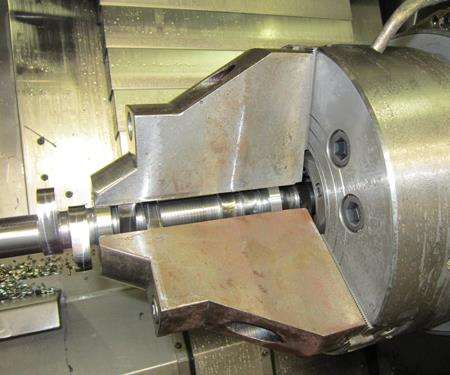 6-inch jaws on the sub-spindle