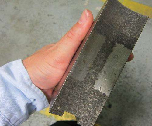 tungsten-alloy coating on jaws