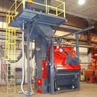 Rosler multi-tumbling batch blast machine