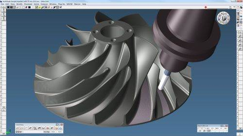 Gibbs and Associates Five-Axis MultiBlade option for GibbsCAM