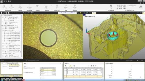 Optical Gaging Products QVI Zone3 CAD-based metrology software