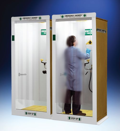 Hemco emergency shower booths