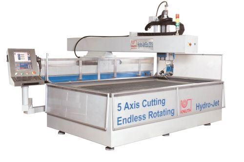 Knuth five-axis waterjet cutting head