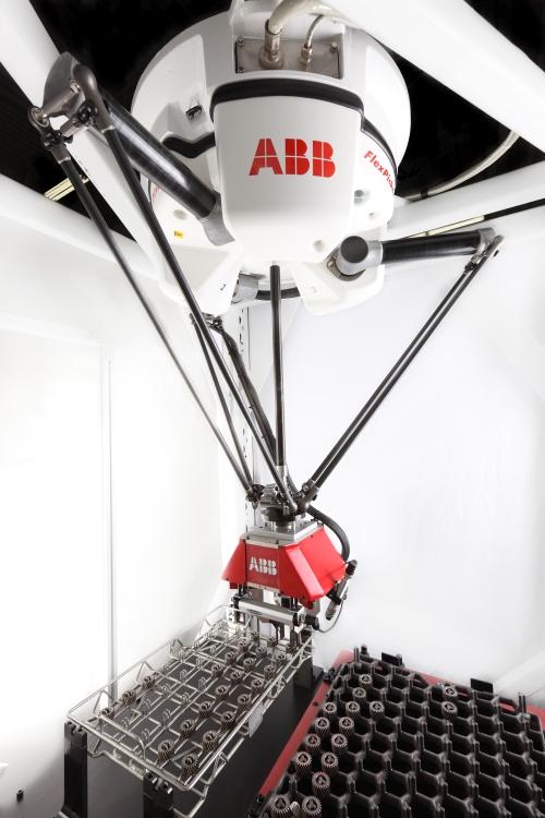 ABB Robotics gear handling automated cell