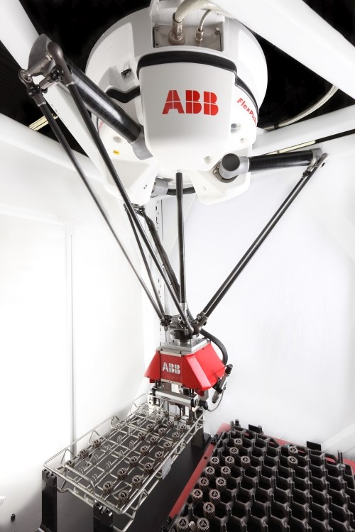 ABB Robotics gear handling automated cell
