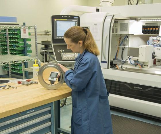 Female machine operator