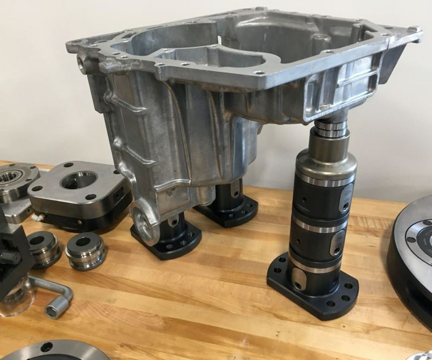 Stackable workholding for clamping complex part