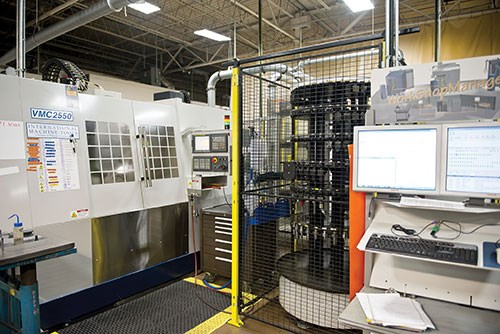 WorkShopManager's input station is shown with the VMC2550 machining center