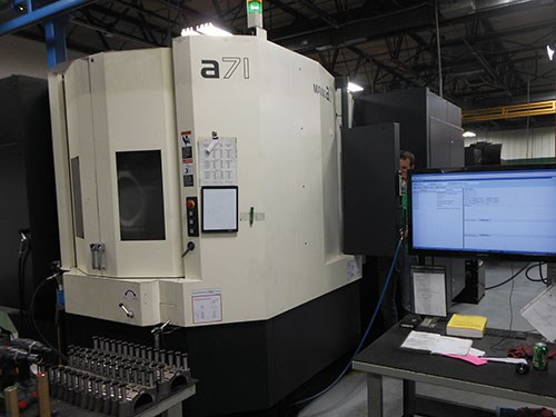 Makino A71 HMC with CAT50 spindle