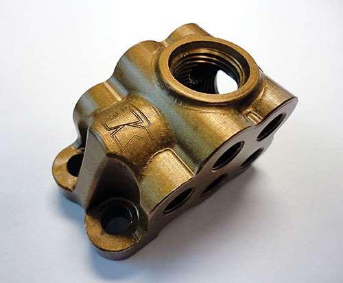 anti-corrosive coated magnesium fuel-distribution block