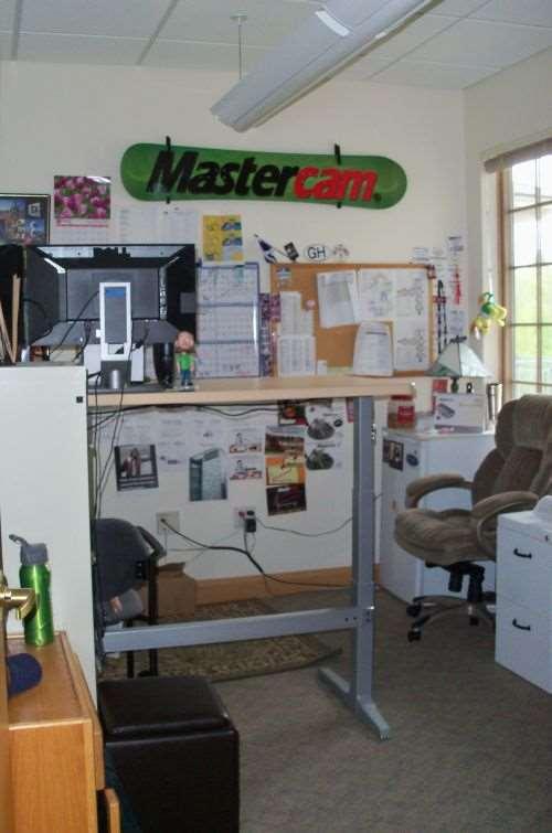 CNC Software's Tolland, Connecticut facility's adjustable desks