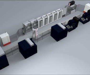 Makino automated material-handling cell
