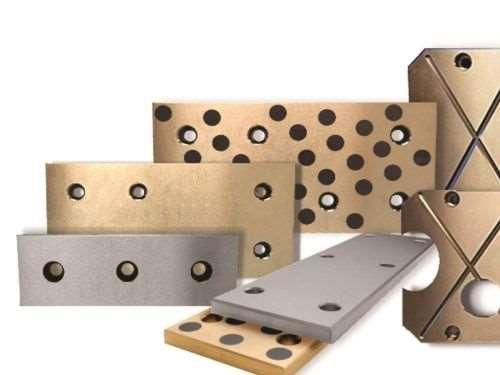 bronze and steel wear strips