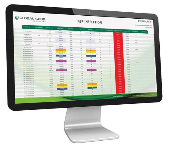 Global Shop Solutions TrueView shopfloor data display